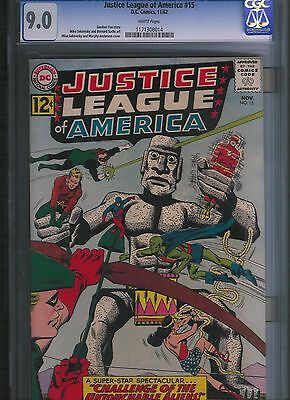 Justice League of America # 15 CGC 9.0  White Pages. UnRestored.