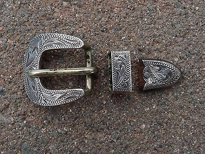 Bob's Sterling Silver Buckle Set