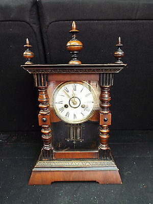 """Junghans Mantel Clock 17"""" To The Top Of The Finial"""