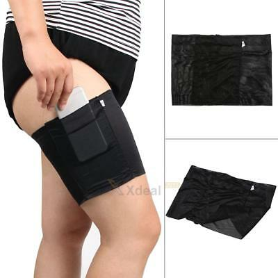 Girl Sock Anti Fall Leg Chafing Phone Card Holder Pocket Leg Thigh Non Slip Sock