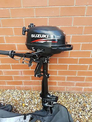 Suzuki Dt5y 5 Hp Outboard Boat Motor Engine Long Shaft