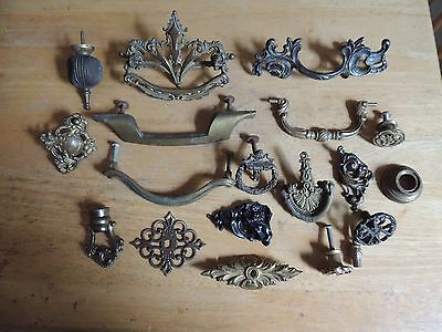Vintage Drawer Pulls Knobs Assorted Lot of 19