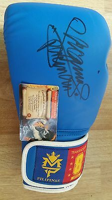 Manny pacquiao signed boxing glove with authentication certificate
