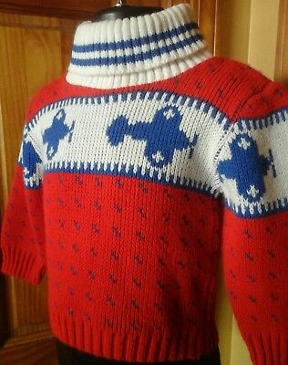 Toddler  Boys Vintage  Airplane  Print Sweater  18 Months