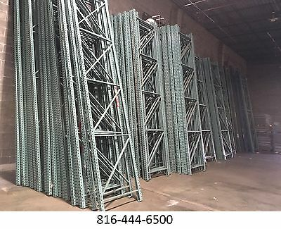 "Pallet Rack 16' X 42"" Upright Frame teardrop"