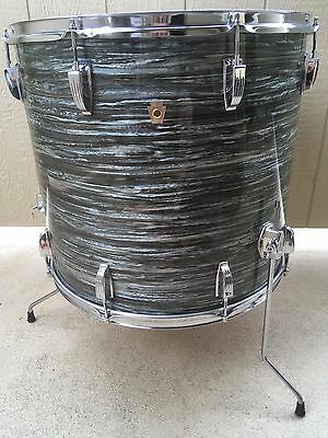 """1969 Ludwig Blue Oyster Pearl 20X18"""" Floor Tom, Ultra Rare !"""