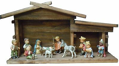 """hummel nativity """"12 piece childrens nativity set"""" with stable retail $1,800"""