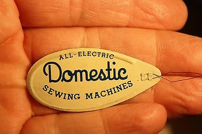 Antique Sewing, Metal Needle Threader with Advertising, Domestic Sewing Mach.