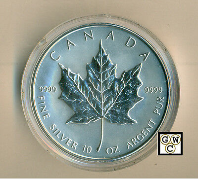 1998  50$  Reverse Proof 10oz Silver Maple Leaf .9999 Fine (OOAK)(10920)