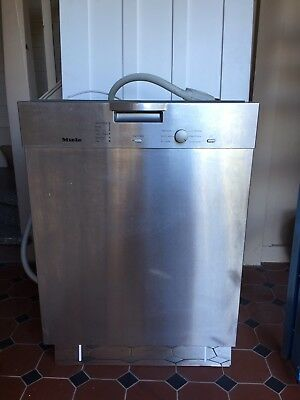 Miele Dishwasher stainless steele under bench