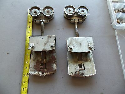 barn door roller pair lot of 2 steel