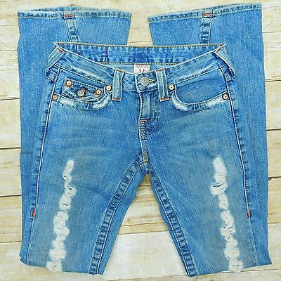 TRUE RELIGION Jeans Joey Womens 26x34 Destroyed Distressed Twisted Seam Tall