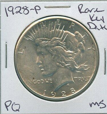 1928-P Peace Dollar Rare Key Date Uncirculated US Mint Coin PQ Silver Coin MS