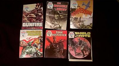 6 * Vintage Fleetway Library WAR PICTURE LIBRARY Comics