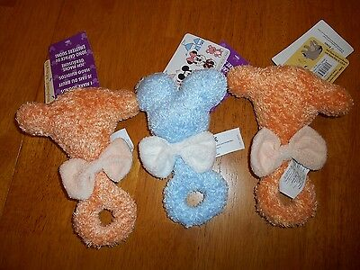 Baby Rattle Lot 2 Infant Tigger Head And 1 Mickey Head Soft Wdw Resort Nwt New!