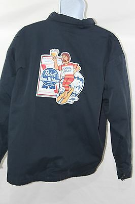 Large Pabst  Mechanic's Work Jacket with Back Logo- Vintage/Retro Beer