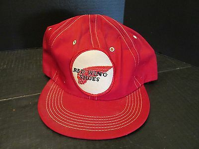 Vintage Ball Cap Hat Red Wing Shoes Cloth Patch Winter Style Adjustable
