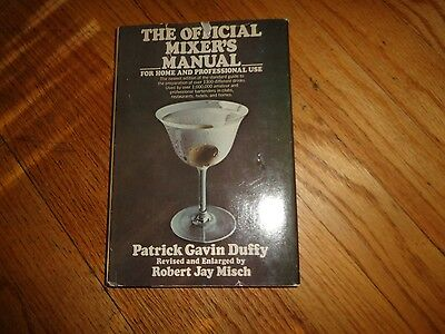The Official Mixer's Manual Patrick Gavin Duffy Vintage Cocktail Book 1975