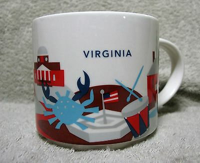 Starbucks You Are Here Collection VIRGINIA Cup Mug 14 fl. oz. 2014 YAH