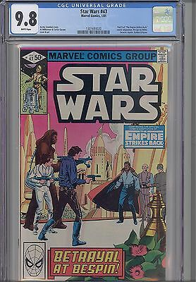 Star Wars #43  CGC 9.8 1981 Marvel  Comic: ESB story with Great Cover