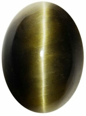 Natural Extra Fine Deep Green Tiger's Eye - Oval Cabochon - South Africa - AAA+