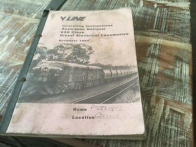 Vline  Operating Instructions 930 Class Diesel Electrical Locomotive