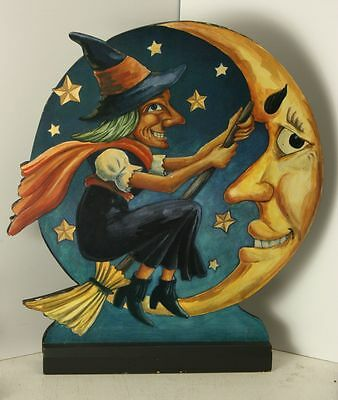 """21"""" Halloween Witch and Moon Cut-out Print """"Midwest"""" by Cannon Falls"""