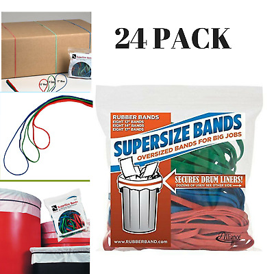 24 PACK Large Rubber Bands Assorted Strong Heavy Duty Industrial Durable Latex