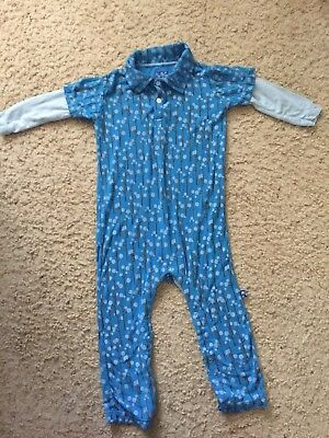 Kickee Pants Baby Boy's Long Sleeve Polo Romper -Size 18-24 Months