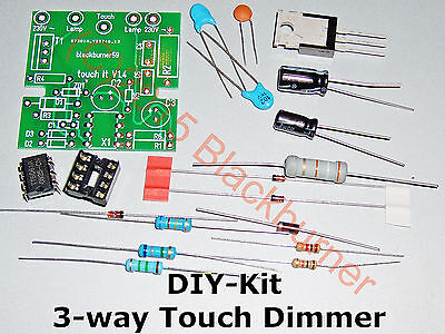 3-way Touch Dimmer 230V~ Kit fai da te con/ senza Custodia NUOVO it