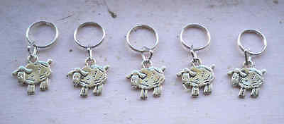 Stitch markers with Sheep Charms