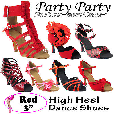 "~50 SHADES of RED~ 3"" Heel Dance Dress Shoes Collections-I by Party Party"