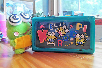 2 Vintage Sanrio KEROPPI FROG items 1992 plushie and 1994 carrying case
