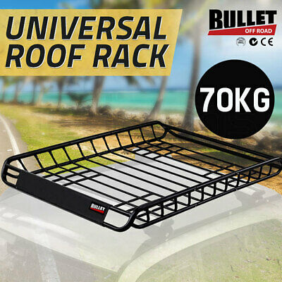 BULLET Universal Vehicle Roof Rack -Steel Cargo Luggage Basket Carrier Cage Tray