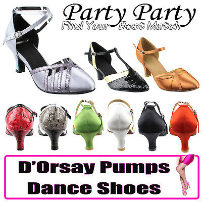 Party Party Closed Toe Dance Dress Shoes with Strap, Women Comfort Evening Pumps