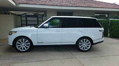 2016 Land Rover Range Rover  2016 Land Rover Range Rover V-8 Supercharged $112,530. MSRP NO RESERVE