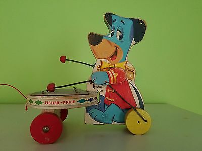 Vintage Huckleberry Hound Pull Toy 1961