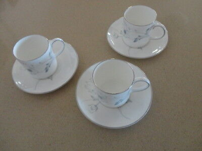 Wedgwood Susie Cooper White Wedding Coffee Cups & Saucers