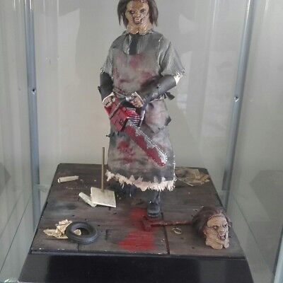 1/6 Ones Customs Leatherface figure with diorama base