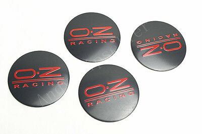 4Pcs Auto Black New O.Z RACING Aluminum Car Wheel Center Caps Sticker Emblems