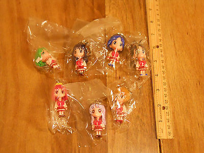 Unknown anime manga character keychain set of 7