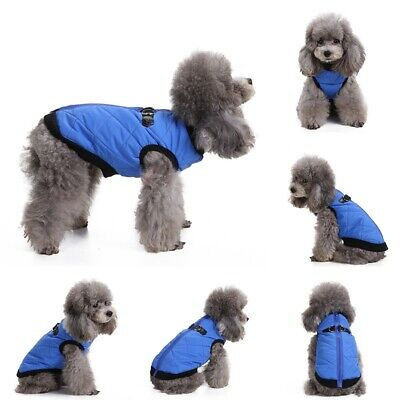 Small/ Large Pet Dog Waterproof Clothes Winter Warm Padded Coat Vest Jacket USA