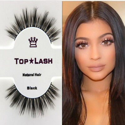 New 3D Mink Hair 100% Natural Long False Fake Eyelashes Eye Lashes Extension
