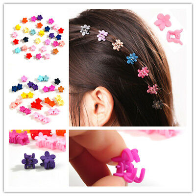 30pcs Colorful Kids Baby Girls Claw Hair Clips Flower Hairpins Hair Accessory