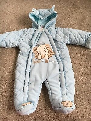Gorgeous Baby Blue Snow Suit 0-3 Months