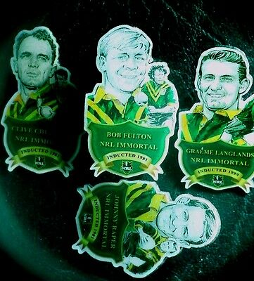 4 NRL Rugby League Immortal Badges Inducted 1999