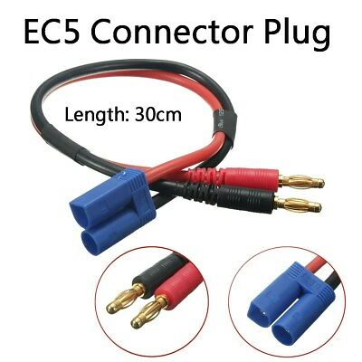 4mm Banana Plug Connector To EC5 Male Plug Adapter Battery Charge Cable 30CM 12#