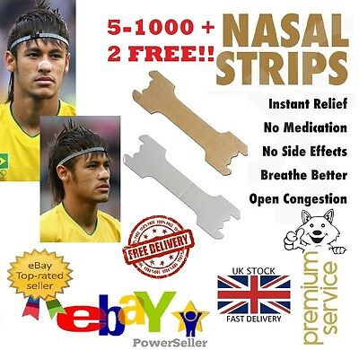5 - 200+2 NEYMAR Better Breath NASAL STRIP Sport Snoring Athlete Easy Right Stop