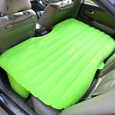 Green Inflatable Car Back Seat Mattress Air Bed Rest Sleeping Camping SUV MPV AU