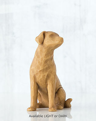 Willow Tree Figurine Love my Dog (light) Always With Me Susan Lordi 27682